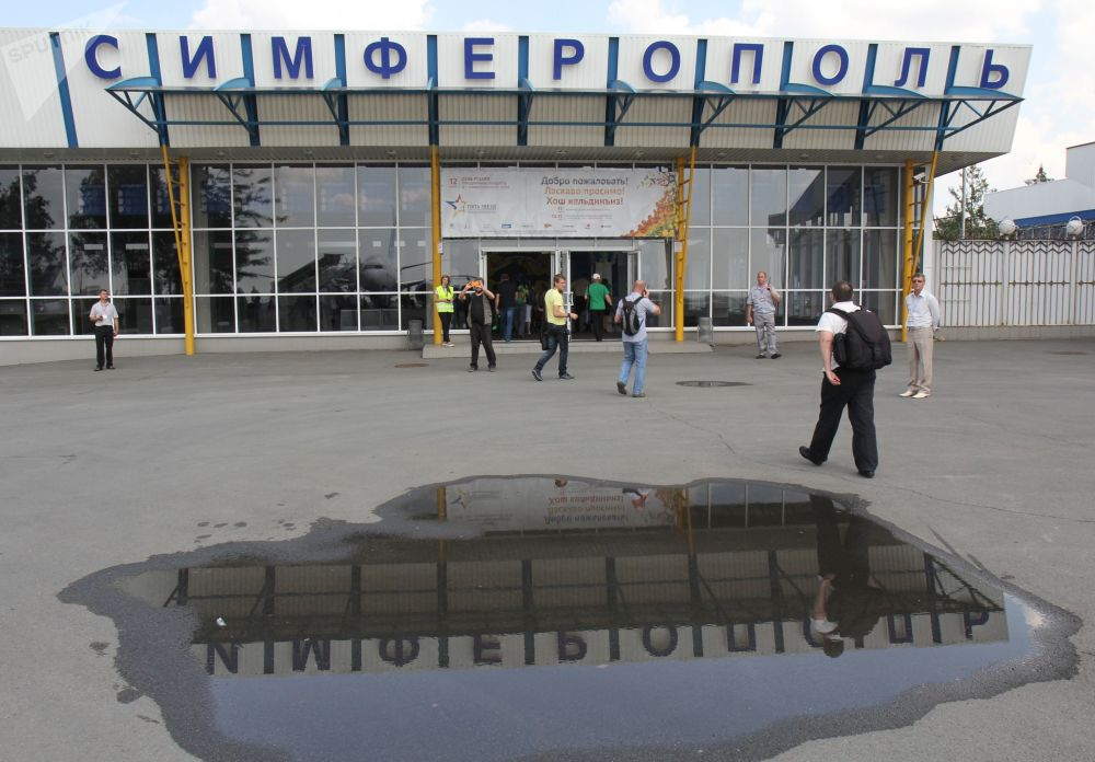 L'aeroporto di Simferopoli, fotografato nella primavera del 2013: in quell'anno secondo le statistiche, il traffico passeggeri è stato di 1 204 000 unità.