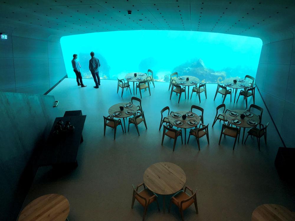 La sala del ristorante Under può ospitare fino a 40 clienti