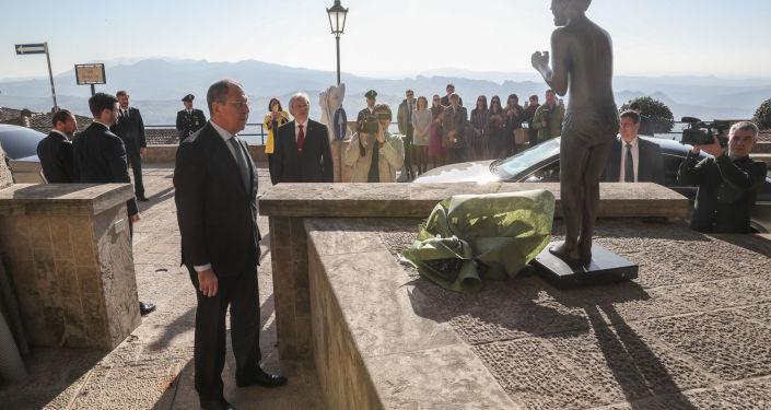 Il ministro degli Esteri russo in visita in San Marino