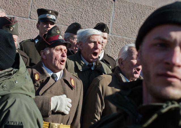 Manifestazione nostalgici e reduci SS a Riga (foto d'archivio)