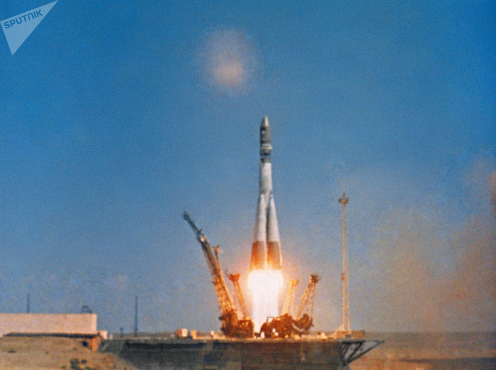12 aprile 1961, ore 9:07: il lancio del razzo vettore Vostok con la navicella spaziale Vostok-1