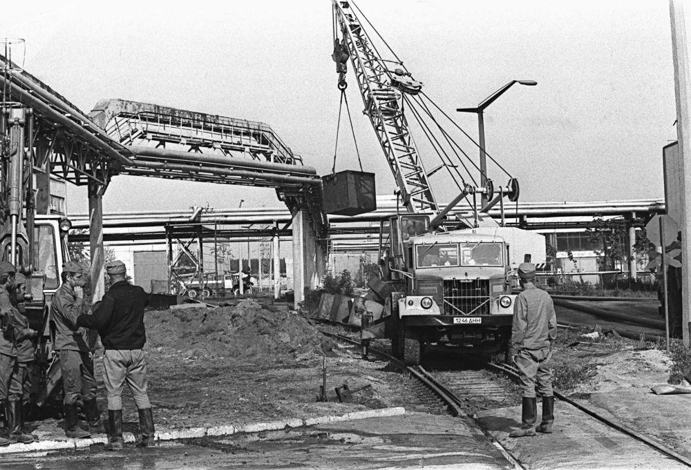 Lavori di bonifica nella centrale nucleare di Chernobyl
