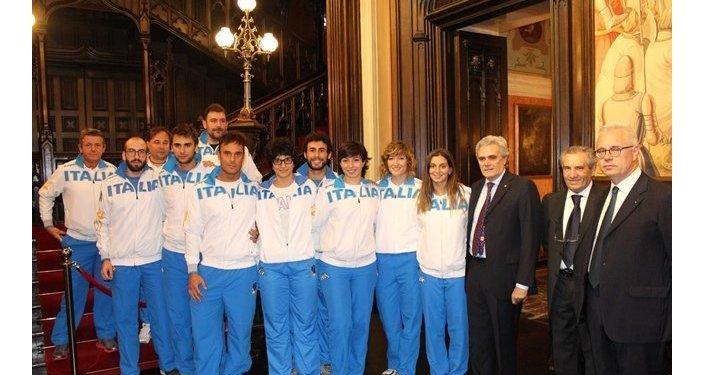 La nazionale di scherma accolta dall'ambasciatore d'Italia a Mosca