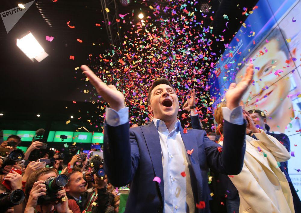 Il nuovo presidente ucraino Vladimir Zelensky.