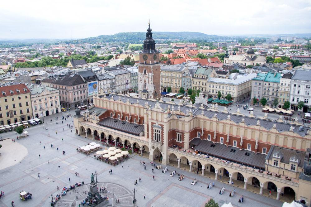 La Piazza del Mercato a Cracovia, 2011.