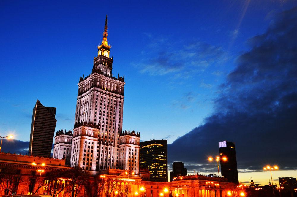 Palazzo della Cultura e della Scienza a Varsavia nel 2014.