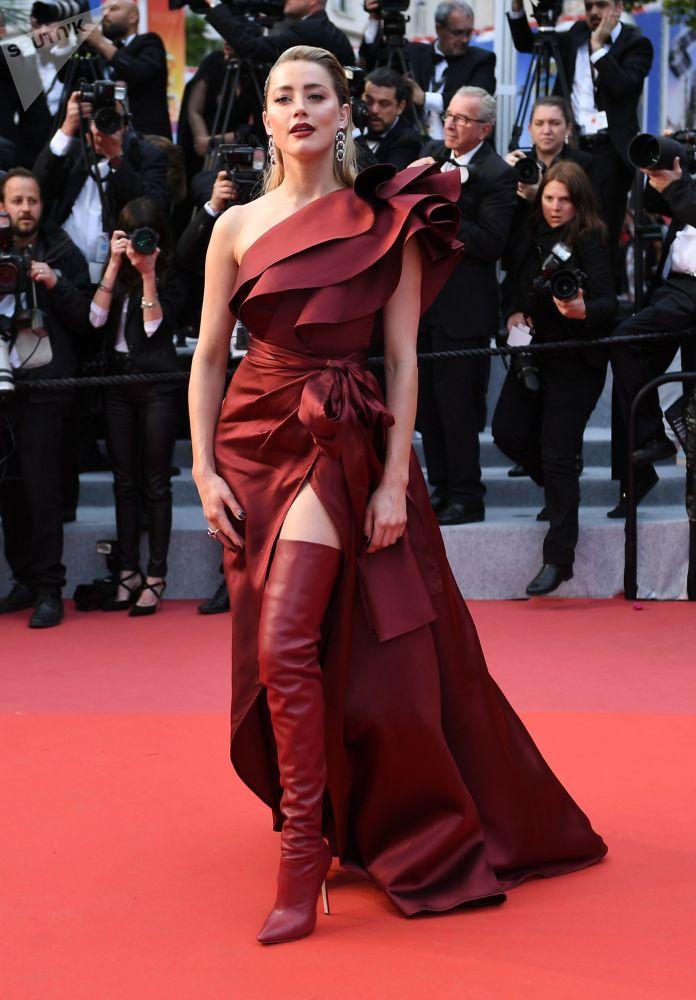 L'attrice e produttrice statunitense Amber Heard.
