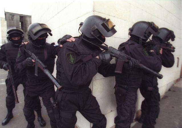 Agenti di uno degli corpi speciali russi