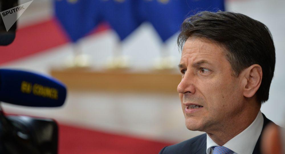 Giuseppe Conte al vertice Ue a Bruxelles