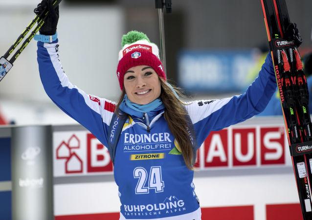 La biatleta italiana Dorothea Wierer