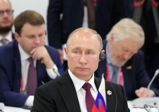 Il presidente russo Vladimir Putin al G20 di Osaka