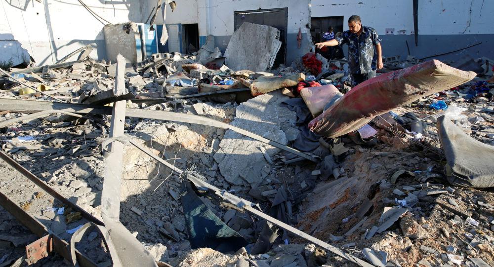 Tripoli dopo bombardamenti