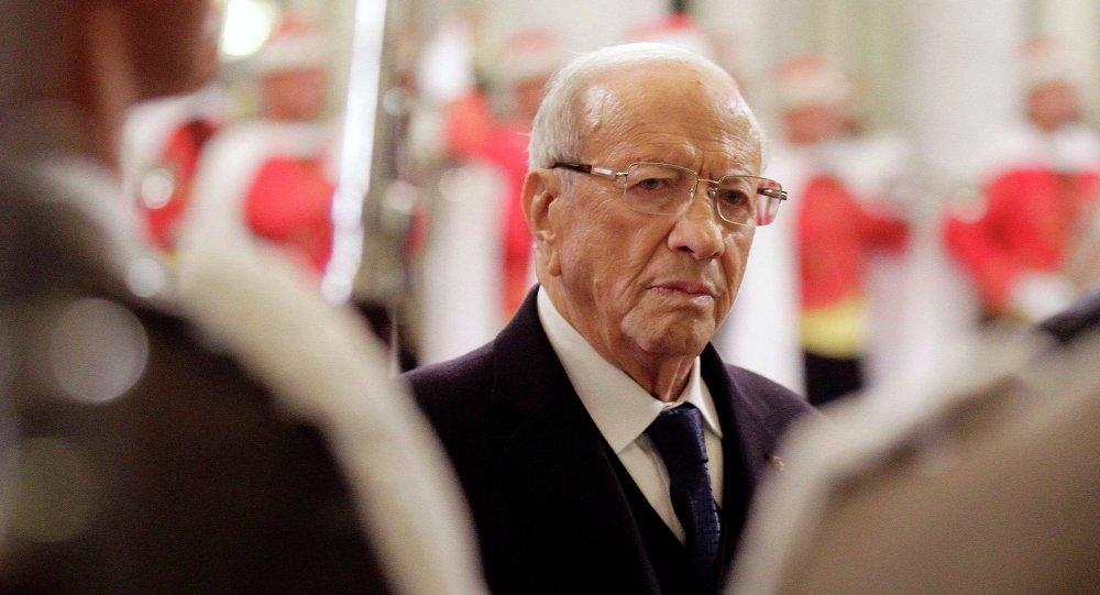 Il presidente della Tunisia Beji Caid Essebsi