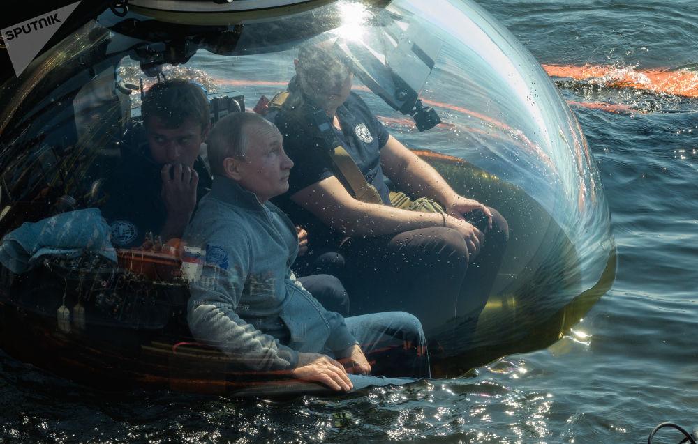 Putin ha detto di non aver controllato il batiscafo durante l'immersione. Secondo il capo dello stato, all'inizio, durante la discesa del veicolo, una nuvola di fango salì dal fondo, ma in seguito si disperse, il che consentì di ispezionare il sottomarino da tutti i lati.