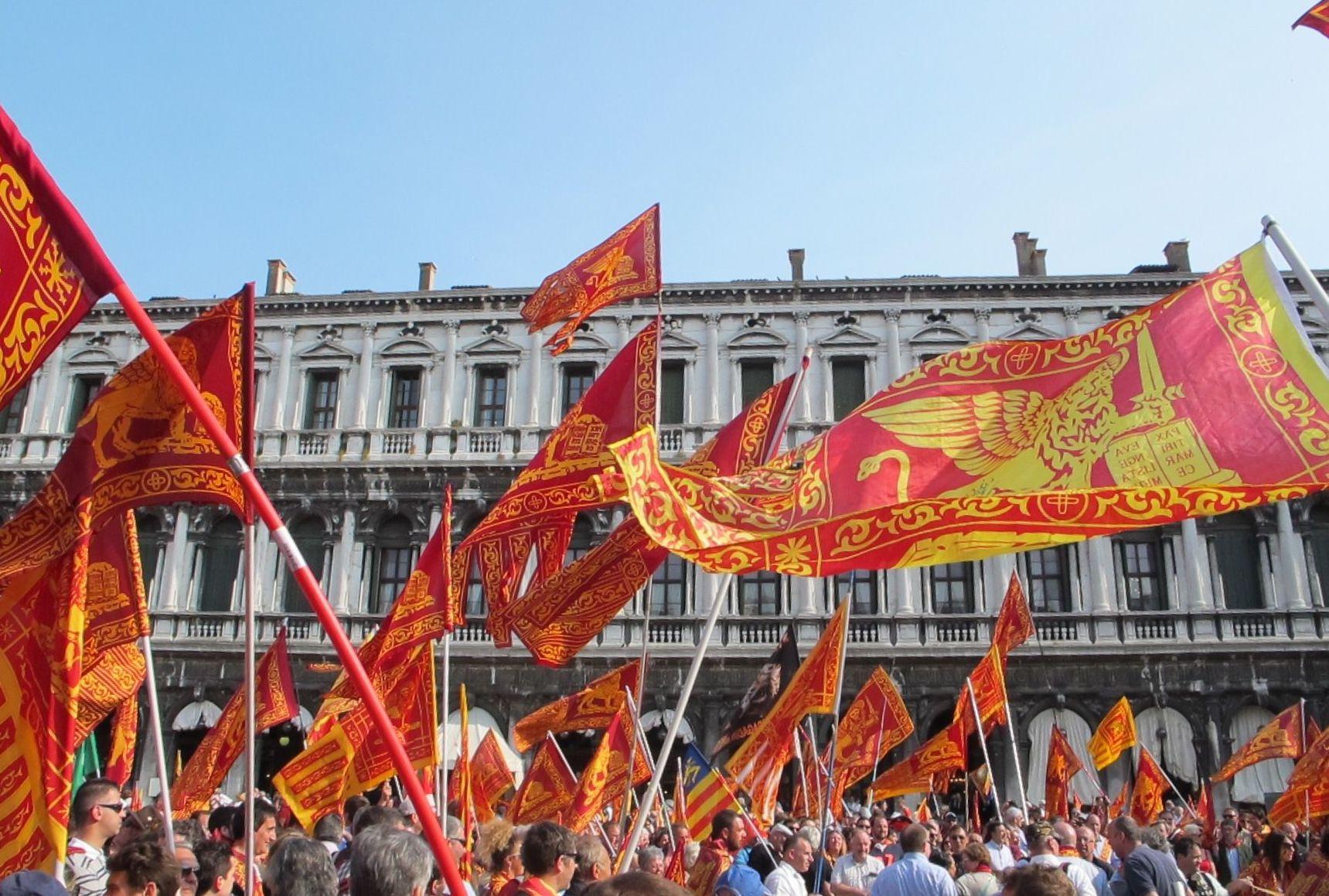 Manifestazione dei venetisti a Venezia