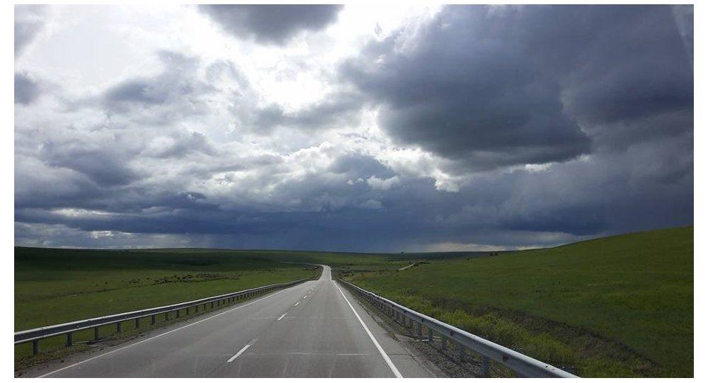 Un paesaggio nel sud della Russia