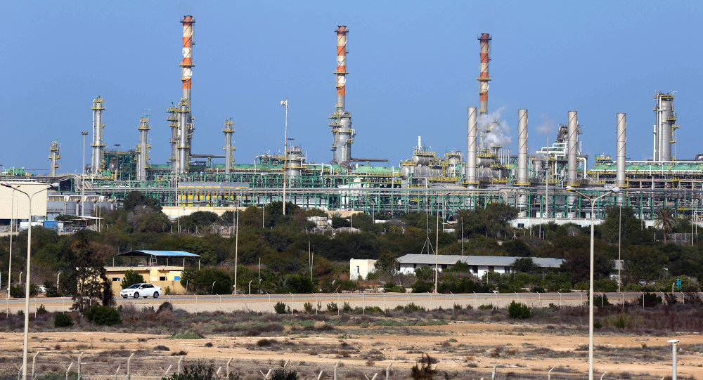 Mellitah Oil and Gas terminal on the outskirts of Zwara in western Libya