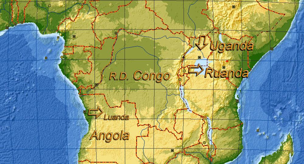 Uganda e Ruanda - posizione sulla mappa
