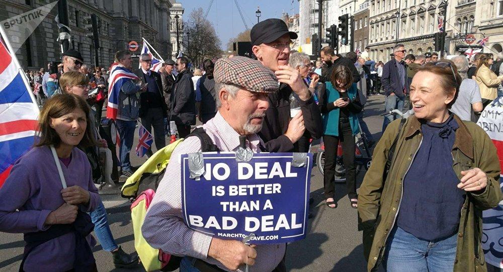 Le proteste contro Brexit a Londra, marzo 2019