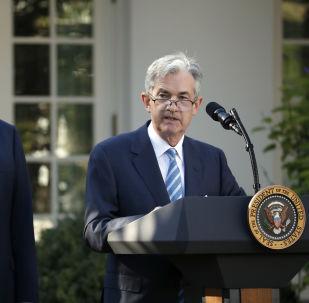 Jerome Powell interviene dopo che il presidente statunitense Donald Trump l'ha nominato il suo candidato al posto del capo del Federal Reserve.