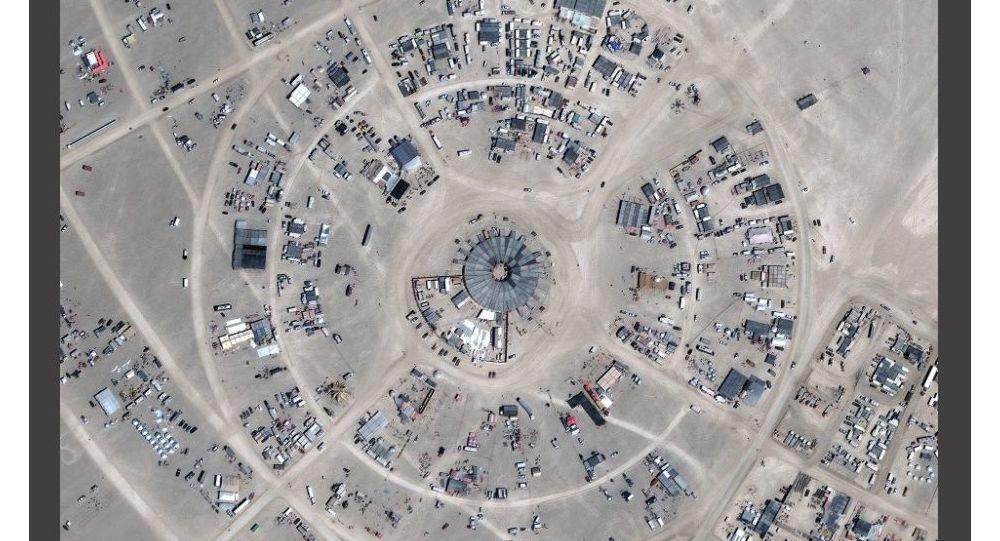 Burning Man - foto satellitare