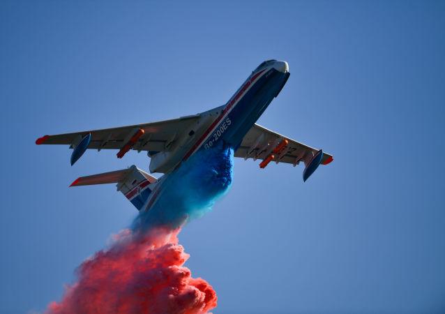 L'aereo Be-200ES al MAKS 2019