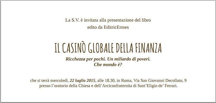 Il casino globale della finanza