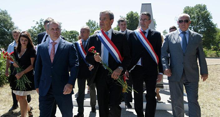 Delegazione francese in visita a Sebastopoli, Crimea