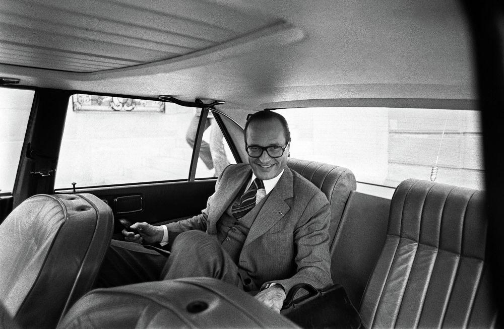 Il primo ministro della Francia Jacques Chirac nel 1976.