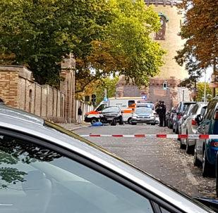 La situazione a Halle dopo la sparatoria, il 9 ottobre 2019