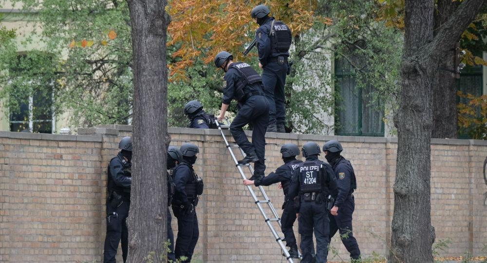 La scena di crimine a Halle, il 9 ottobre del 2019