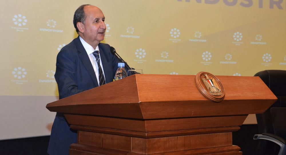 Il ministro egiziano del Commercio e dell'Industria, Arm Nassar