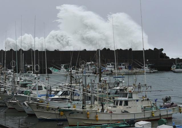 Il tifone Hagibis in Giappone