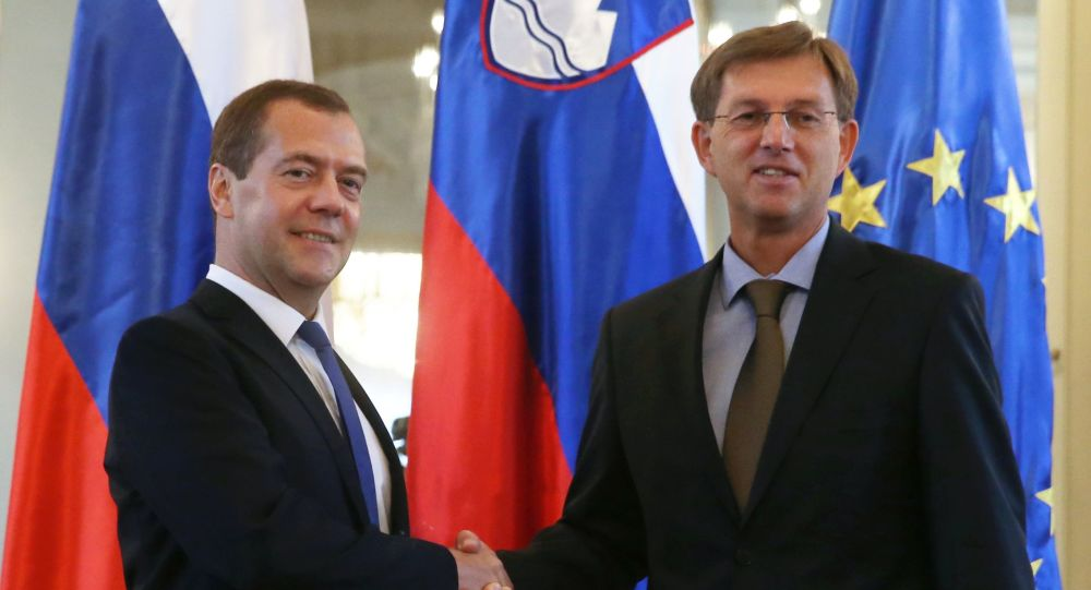 Dmitry Medvedev e il primo ministro della Slovenia Miroslav Cerar