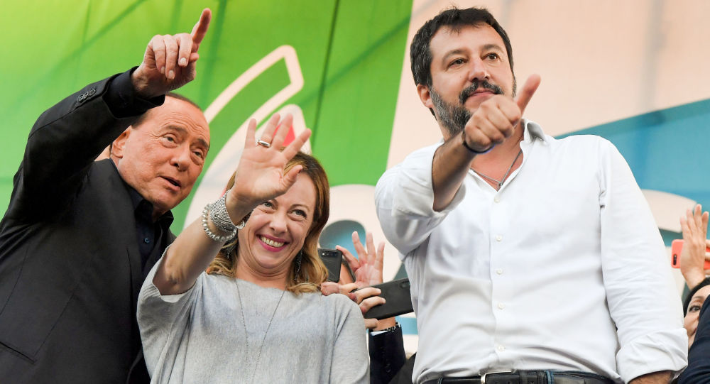 Silvio Berlusconi, Giorgia Meloni e Matteo Salvini
