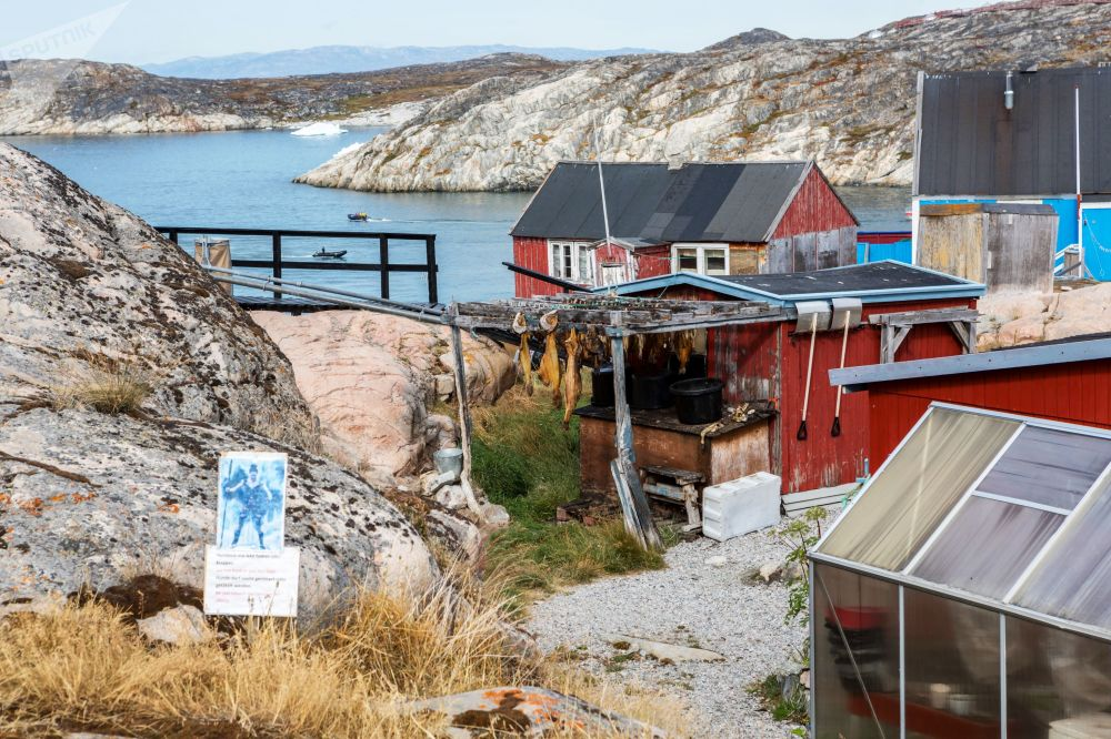 Le case dei residenti locali della città di Ilulissat in Groenlandia.