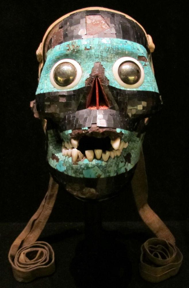 Una maschera azteca con turchese, 1400-1521 a.c.