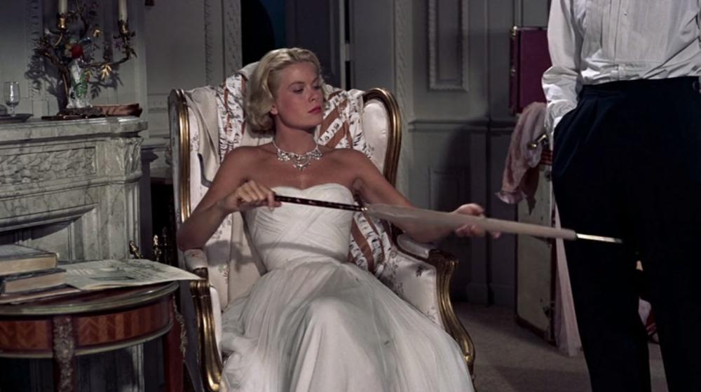 L'attrice americana Grace Kelly nel film Caccia al ladro, 1955