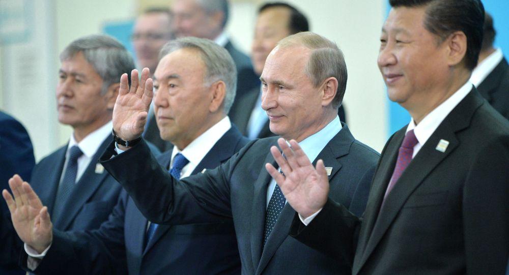 Putin insieme ai presidenti di Cina, Kazakhstan e Kyrgyzstan