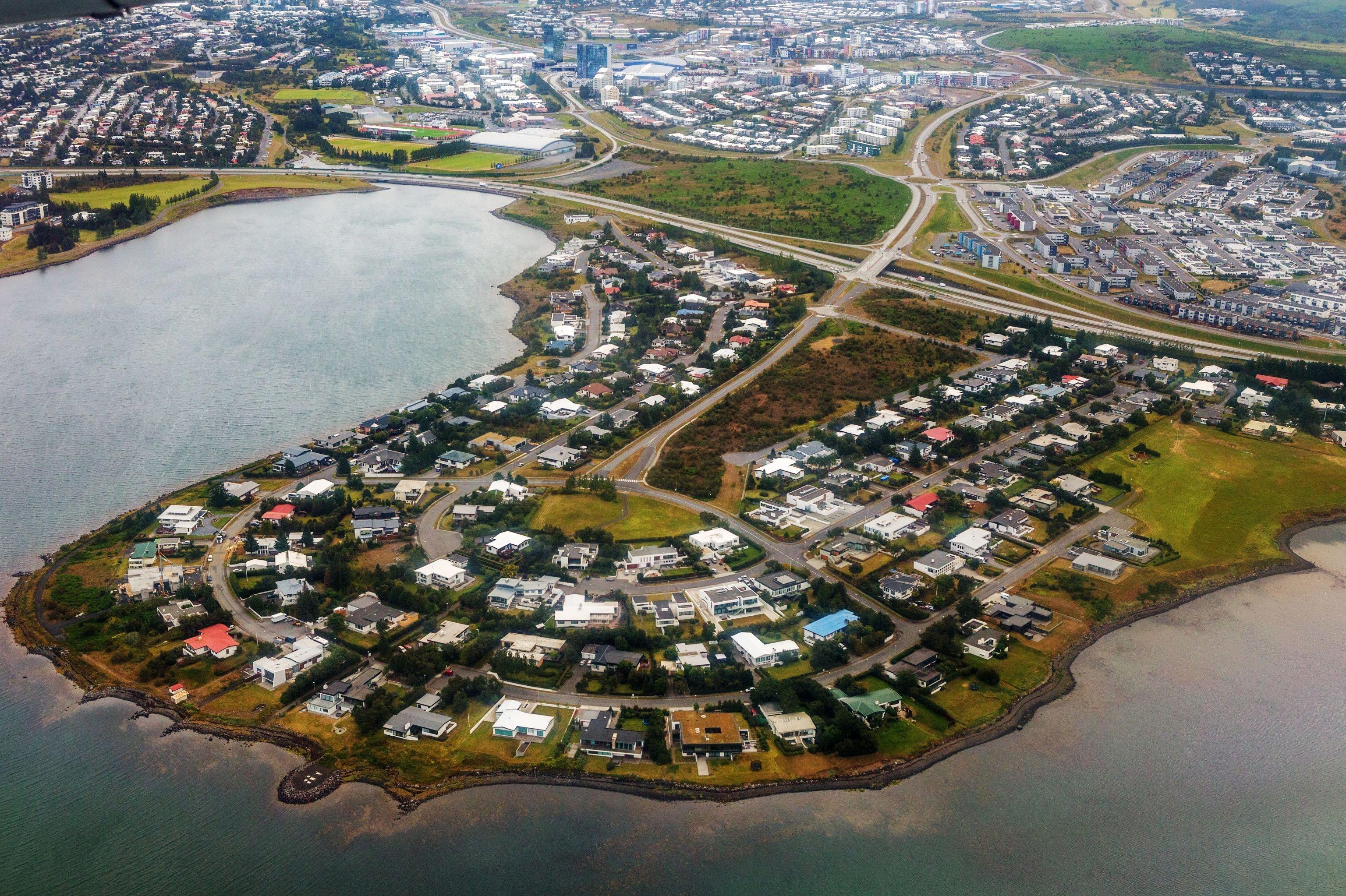La città di Gardabaer, in Islanda