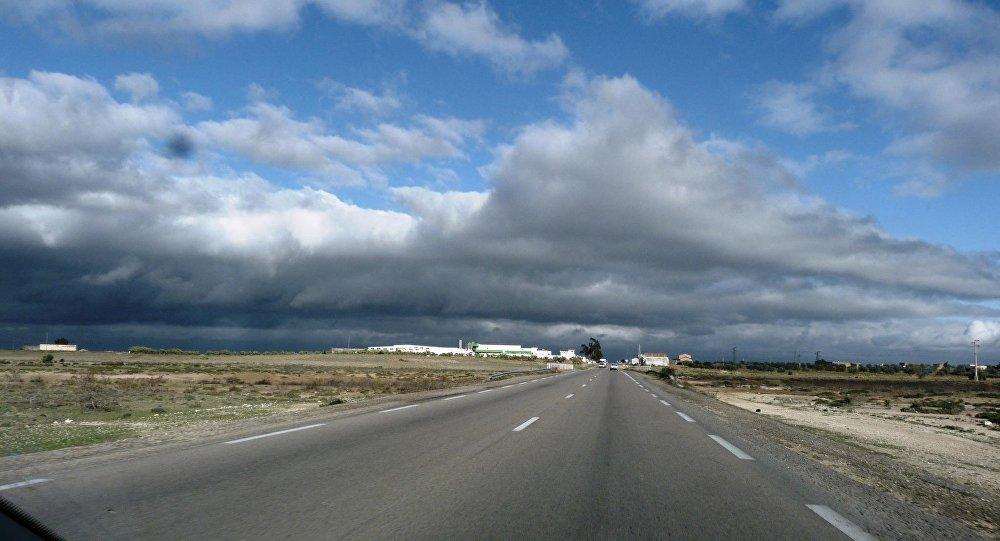 Una strada in Tunisia