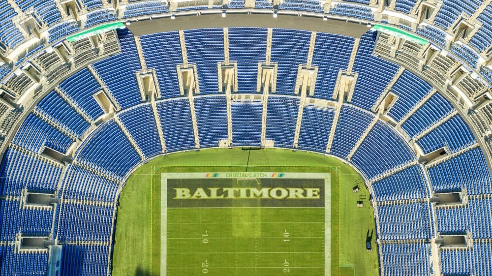 M&T Bank Stadium a Baltimora, Maryland, USA