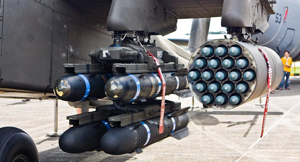 Missili anticarro AGM-114 Hellfire  e razzi Hydra da 70mm