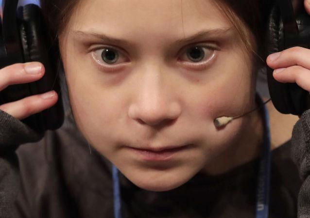 Attivista Greta Thunberg alla conferenza di Madrid Cop25