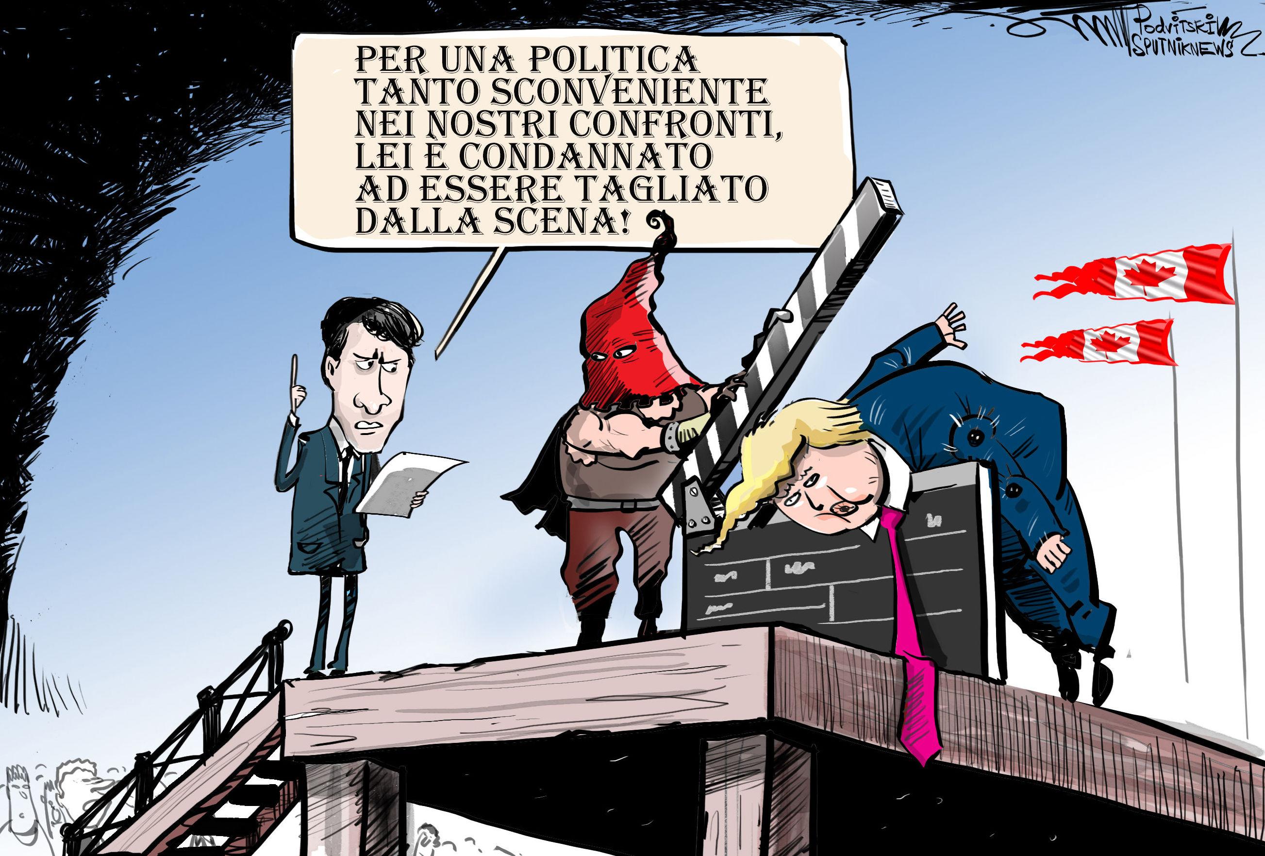 Canada, tagliata scena di Trump in