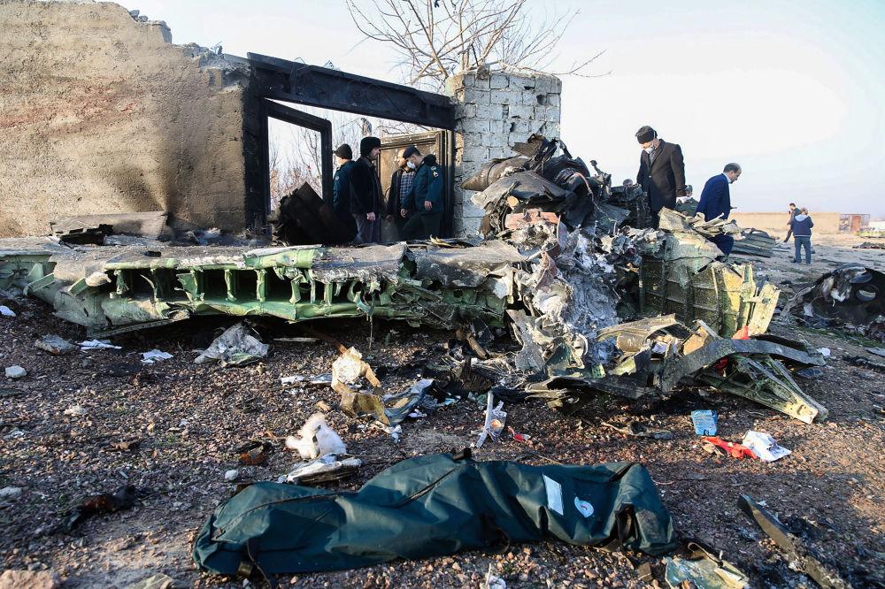 Luogo dello schianto dell'aereo ucraino in Iran