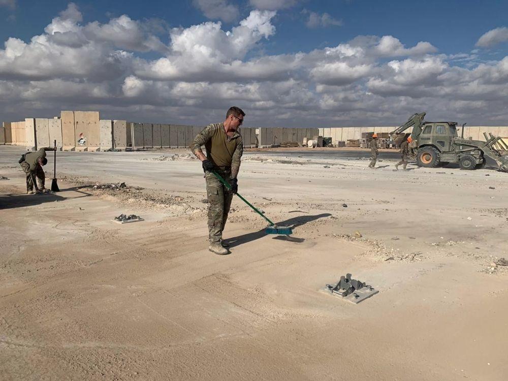 La base aerea di Ayn al-Asad in Iraq dopo il bombardamento, il 13 gennaio 2020