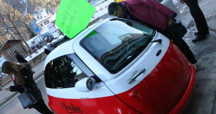 Un auto ecologico a Davos