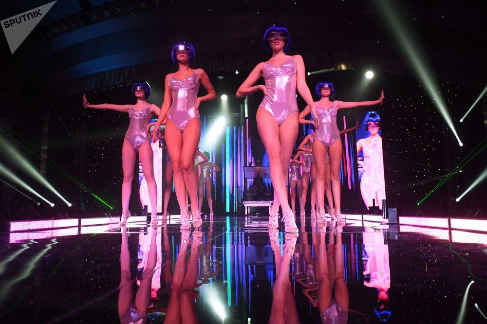 Le partecipanti al concorso di bellezza Miss Tatarstan 2020 a Kazan, in Russia.
