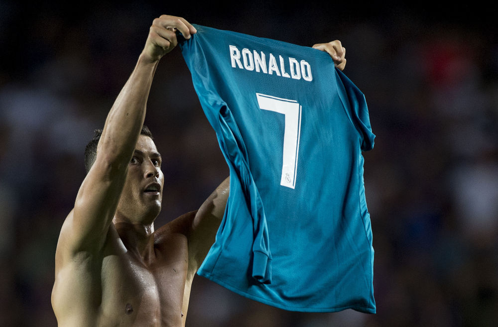 Cristiano Ronaldo durante la partita Barcellona - Real Madrid, 2017